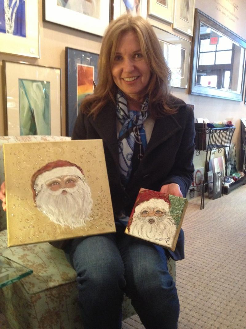 Heidi loves her two new Natalie Sarabella Heirloom Collection Santas
